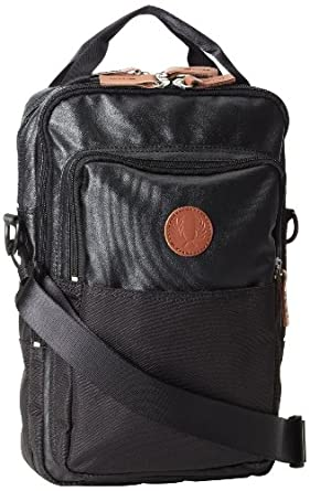 Fred Perry Black Coated Nylon Shoulder Bag 9