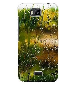 ColourCraft Beautiful Rain Pattern Design Back Case Cover for HUAWEI HONOR BEE