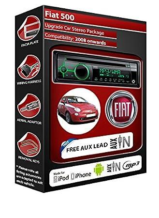 Fiat 500 Autoradio CD MP3 radio play Clarion, iPod, iPhone, Android