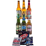 FREE Delivery - 6 Lagers from Around the World with Bar Snacks Hamper