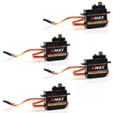 Bangcool 4pcs Emax ES08MDII 12g 0.12sec High speed Mini Metal Gear Digital Servo