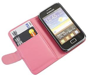 iTALKonline ROSA Esecutivo Portafoglio Custodia Cover Coperchio con Carta di Credito / Porta Biglietti Per Samsung S7500 Galaxy Ace Plus