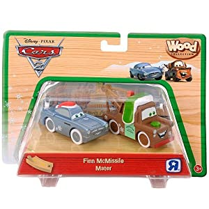 Amazon com disney pixar cars 2 wood collection finn mcmissile mater