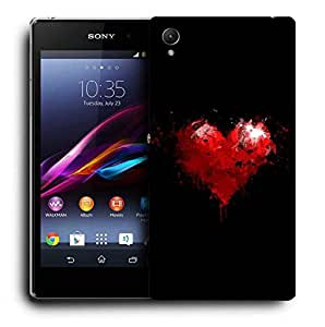 Snoogg Broken Heart Printed Protective Phone Back Case Cover For Sony Xperia Z3