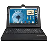 MiniSuit Removable Qwerty Keyboard Stand Case For Samsung Galaxy Note 10.1 N8000 (Auto Wake/Sleep)
