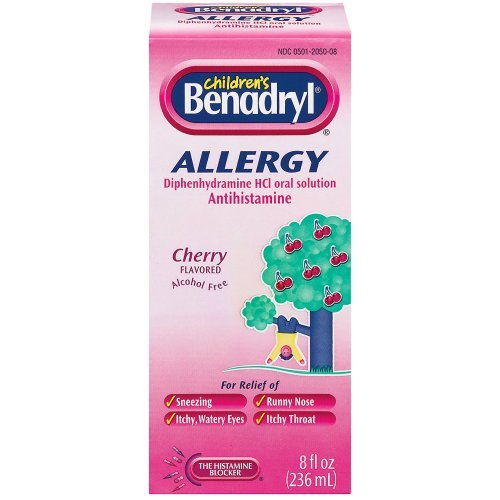 Benadryl Child Cherry Allergy Syrup- 8 Fl oz Image