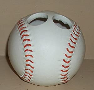 Baseball gifts baseball bathroom d cor baseball shower for Baseball bathroom ideas