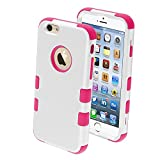 Product B00M7KBLH2 - Product title MYBAT Rubberized Tuff Hybrid Protector Case for iPhone 6 - Retail Packaging - Ivory White/Hot Pink
