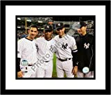 Derek Jeter Jorge Posada Andy Pettitte Mariano Rivera New York Yankees MLB Framed 8x10 Photograph Yankee Stadium Farewell Night