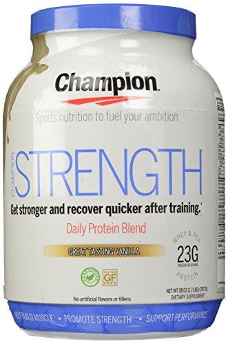 Champion Naturals Strength Protein Powder, Vanilla, 1.7 pounds
