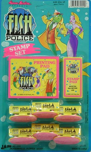Fish Police Party Favors - Stamp Set - 1