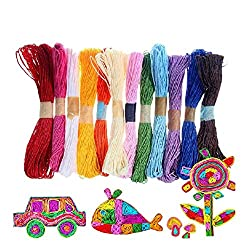 CraftDev Colorful DIY Paper Rope Threads For Arts And Crafts (Assorted Colors) (Set Of 20)