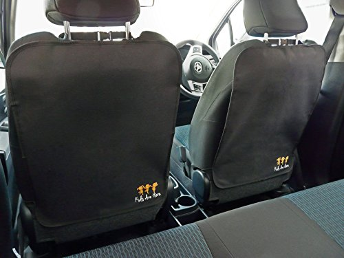 Kick Mats - Best Seat Back Protectors For Your Car - Money Back 90 Day Guarantee If Not Completely Satisfied - 2 Pack Auto Covers Keep Seats Clean And Free From Marks - Premium Kick Pads - Brilliant For Toddlers and Kids In Rear - Fit Most Vehicles - 1