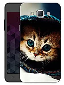 "Humor Gang Baby Cat Kitty Printed Designer Mobile Back Cover For ""Samsung Galaxy E5"" (3D, Matte, Premium Quality Snap On Case)"