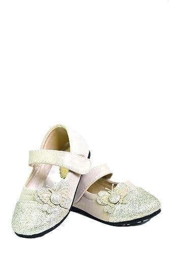 Dream-Pairs-CRYSTAL-1-Mary-Jane-Velcro-Butterfly-Glitter-Ballerina-Flat-Toddler-Little-Girl-New