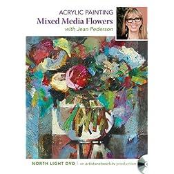Acrylic Painting - Mixed Media Flowers