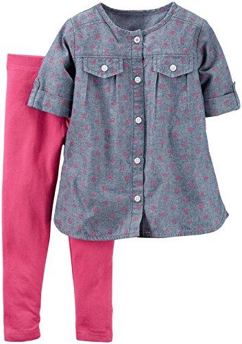 Carter's Baby Girls 2 Pc Playwear Sets, Print, 18 Months