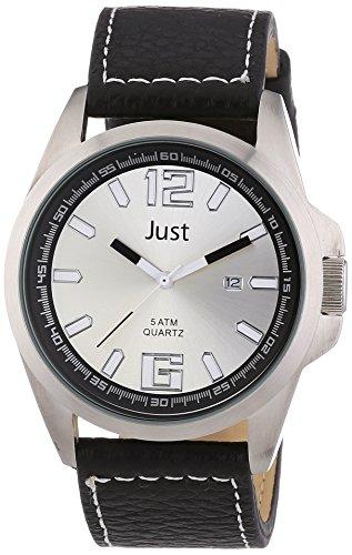 Just Watches 48-S10252-SL - Orologio da polso uomo, pelle, colore: nero