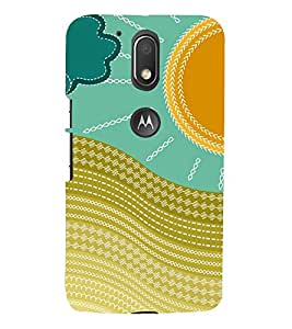 multicoloured traditional pattern 3D Hard Polycarbonate Designer Back Case Cover for Motorola Moto G4 Play