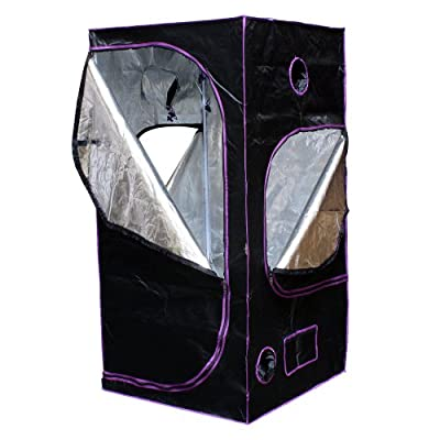 """Apollo Horticulture 36""""x36""""x72"""" Mylar Hydroponic Grow Tent for Indoor Plant Growing"""