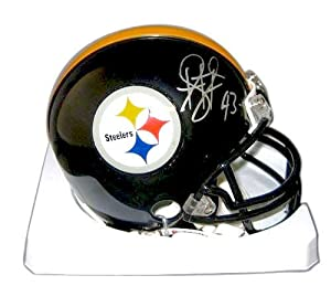 Troy Polamalu Signed Autograph Pittsburgh Steelers Mini Helmet Authentic Certified... by all-star sports