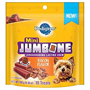 Pedigree Jumbone Bacon Flavor Mini Treats For Dogs 6.34 Ounces 10 Count