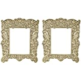 Mani Balaji Wooden Photo Frame (20 Cm X 20 Cm X 35 Cm, Silver, Pack Of 2)