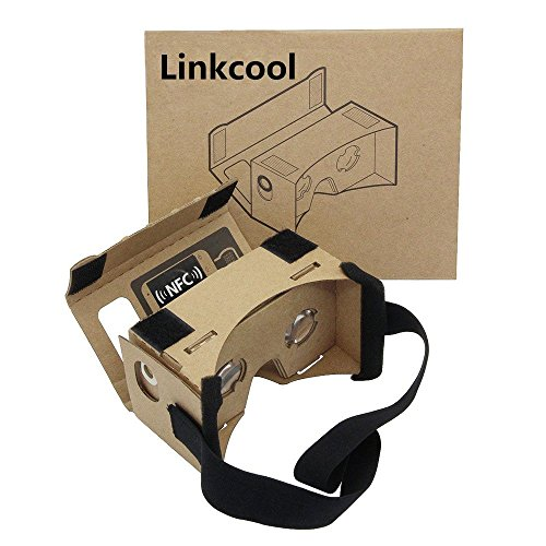 Linkcool Cardboard 3d Vr Virtual Reality DIY 3D Glasses for Smartphone with NFC and Headband