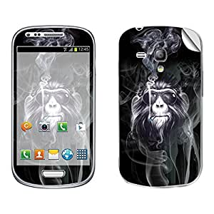 Skintice Designer Mobile Skin Sticker for Samsung S4 Mini, Design - Smoking Ape