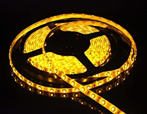 ZITRADES Waterproof Yellow 16.4Ft 5M 300 LED 3528 SMD Flexible Strip Lights Light Lamp 300LED Car Home Garden BY ZITRADES by ZITRADES