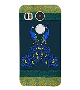 PrintDhaba Peacock D-4601 Back Case Cover for LG NEXUS 5X (Multi-Coloured)