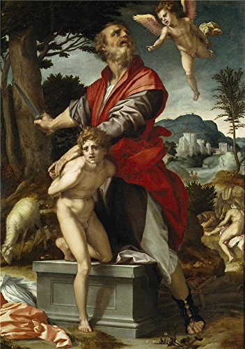 Oil Painting 'Sarto Andrea Del The Sacrifice Of Isaac Ca. 1522 ' Printing On Polyster Canvas , 20 X 28 Inch / 51 X 72 Cm ,the Best Bar Decor And Home Artwork And Gifts Is This Reproductions Art Decorative Canvas Prints