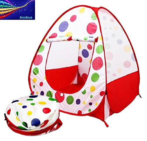 Aoakua キッズハウス 子供用 ボールハウス (テント) 専用収納ケース付き