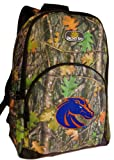Boise State REAL Camo Backpack Boise State University Broncos NCAA Logo for Travel or School Bags, Camping Hunting- Best Unique Gifts For Child, Adults, Students,