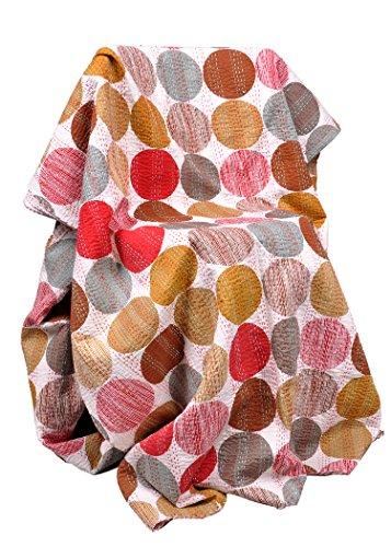 Rawyal-en diseño de lunares multicolor para de funda de edredón Reversible Kantha, Indian Sari de funda de edredón, Craft reciclado, Vintage Kantha manta, Indian manta colcha Gudri hecho a mano