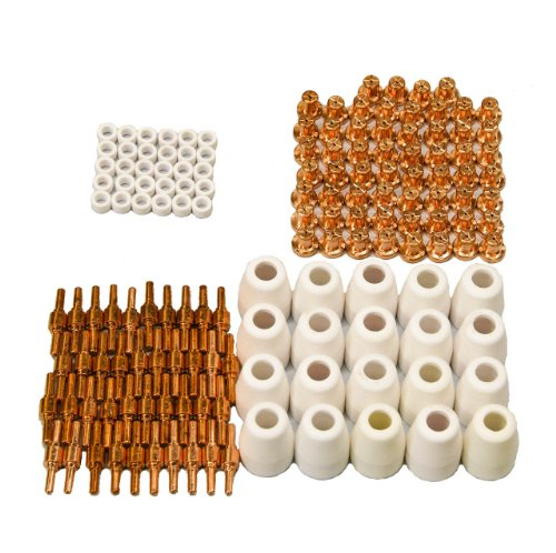 Lcon150 Lotos Plasma Cutter Consumables 150 Pcs Tip Electrode Cup And Ring For 50A Lotos Plasma Cutters Cut50D, Lt5000D, Ct520D, Blct520D