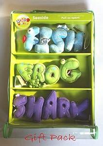 Magnetic Words Plush Fish Frog Shark Seaside Gift Pack: Toys & Games