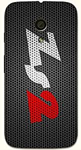 Striking multicolor printed protective REBEL mobile back cover for Motorola Moto G (2014) 1st Gen D.No.N-T-5026-MG1