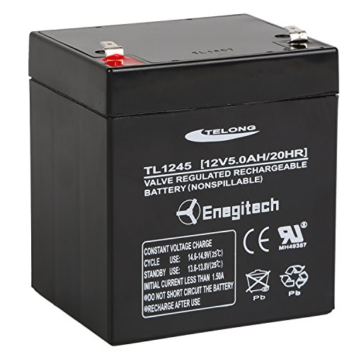 Powermall 12V 5Ah Sealed Lead Acid Battery Rechargeable Emergency Lighting Battery with Faston Connector (12v Rocker Switch Panel compare prices)