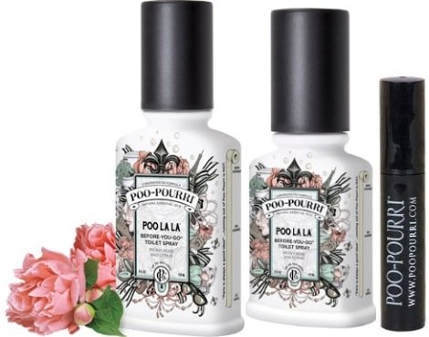 Awardpedia Poo Pourri 3 Piece Bathroom Deodorizer Set Poo La La Peony Rose And Citrus