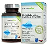 NatureWise OmegaWise Krill Oil with 100% Pure Superba Krill, Full GPS Traceability, 500mg, 120 Softgels (Packaging May Vary)