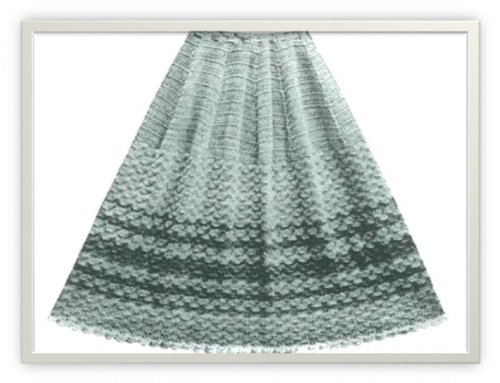 PALMYRA SKIRT VINTAGE CROCHET PATTERN #0204 (Single Patterns)