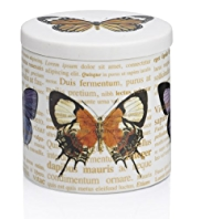 Butterfly Print Filled Candle