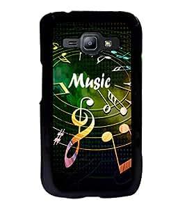 printtech Music notes Back Case Cover for Samsung Galaxy J1::Samsung Galaxy J1 J100F