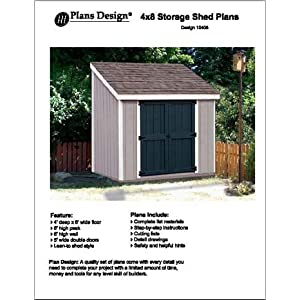 lean to shed plan 4x 8.