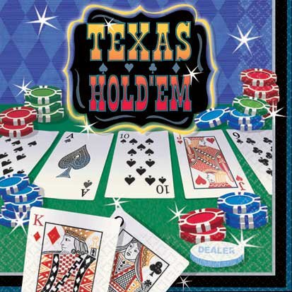 Texas Hold'em Beverage Napkins 16ct