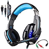 Game Headset, KOTION EACH G9000 3.5mm LED Light Gaming Headset For PlayStation 4 PS4 With Microphone For Tablet... - B01COYI2J0
