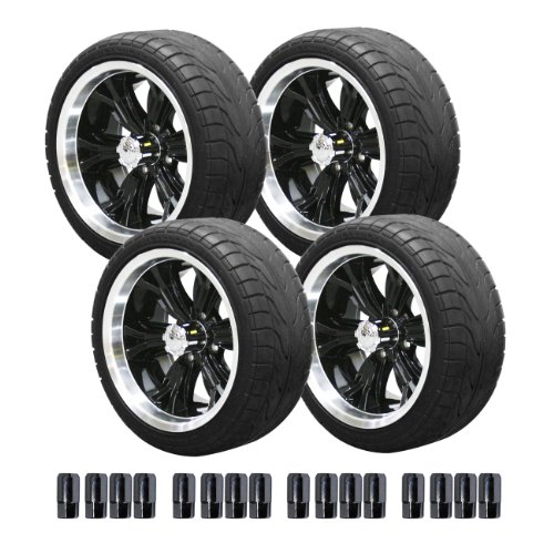 E-Z-Go 750393Pkg Backlash Tires With 14-Inch Black Optimus Wheels Package