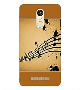 PrintDhaba Music Notes D-1428 Back Case Cover for XIAOMI REDMI NOTE 3 (MEDIATEK) (Multi-Coloured)