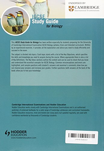Cambridge IGCSE Study Guide for Biology (IGCSE Study Guides)